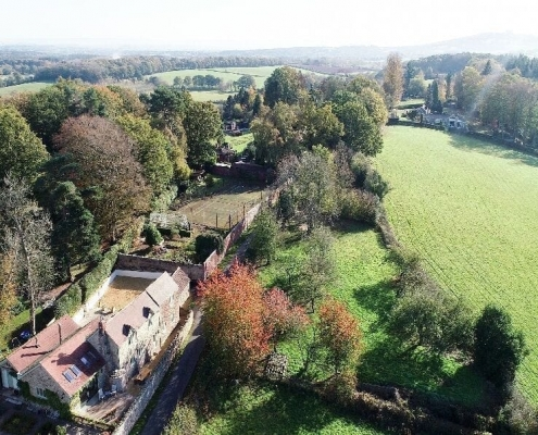 Drone View of PerryCliff Cottage