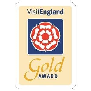 Visit England Gold Award for Grove Wood Cottages